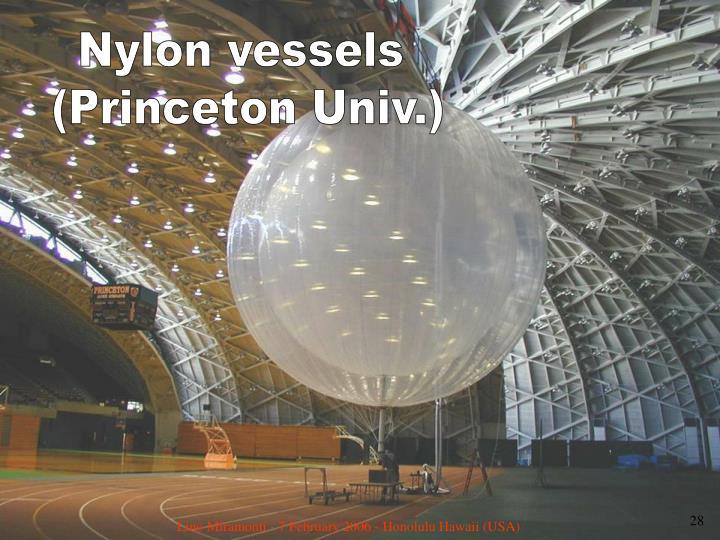 Nylon vessels
