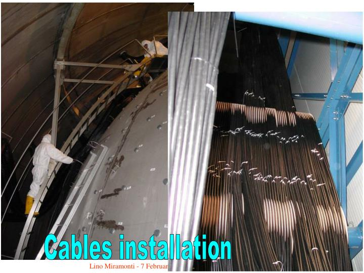 Cables installation