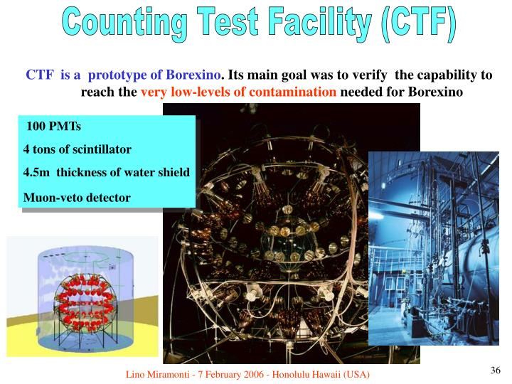 Counting Test Facility (CTF)