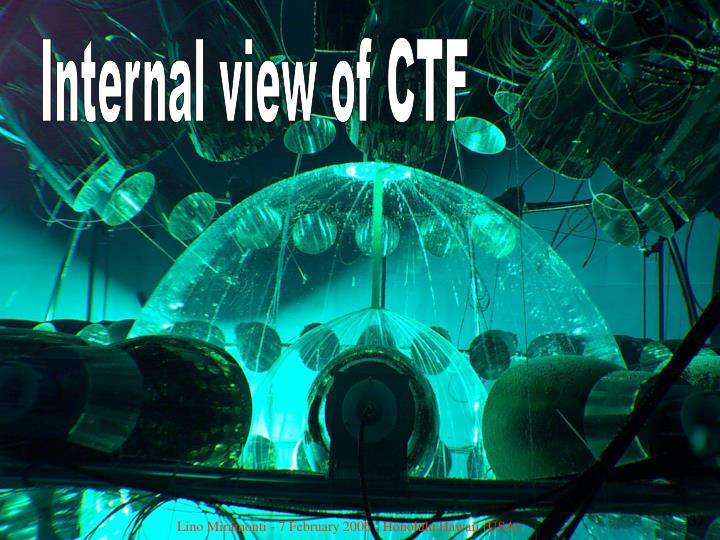 Internal view of CTF