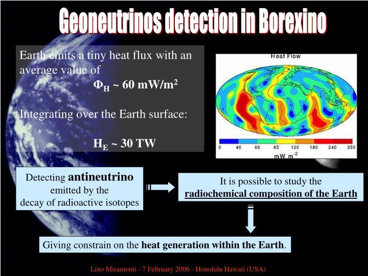 Geoneutrinos detection in Borexino