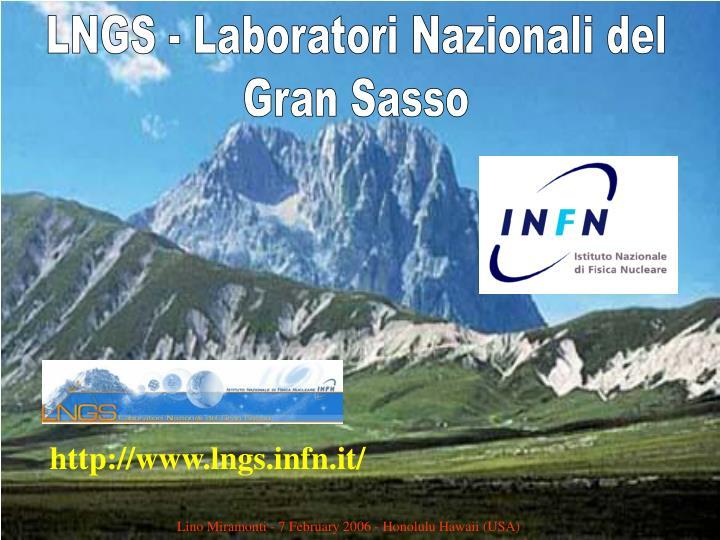 LNGS - Laboratori Nazionali del
