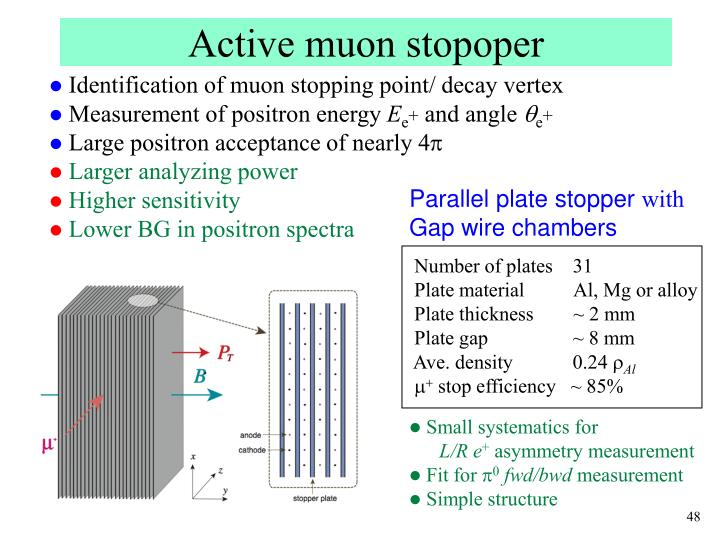 Active muon stopoper