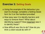 exercise 3 setting goals