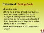 exercise 4 setting goals