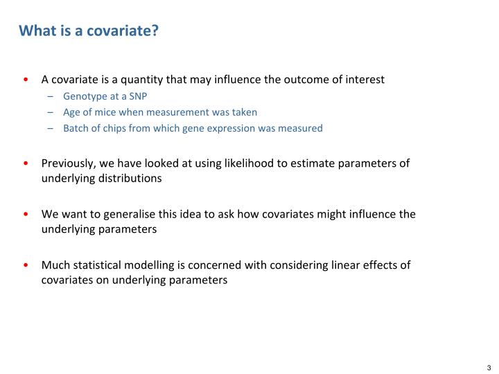 What is a covariate