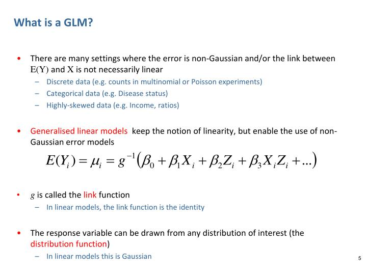 What is a GLM?