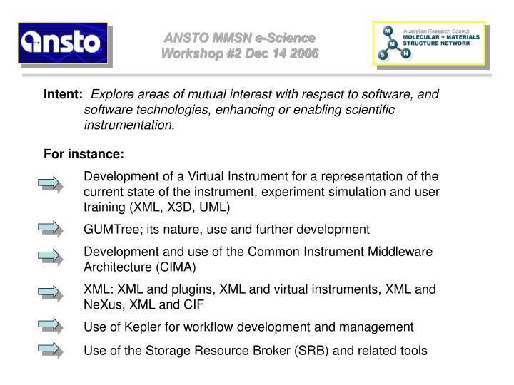 ANSTO MMSN e-Science