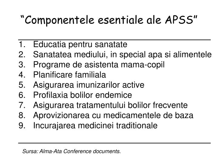 """Componentele esentiale ale APSS"""