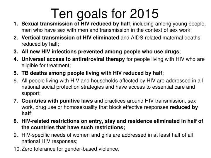 Ten goals for 2015