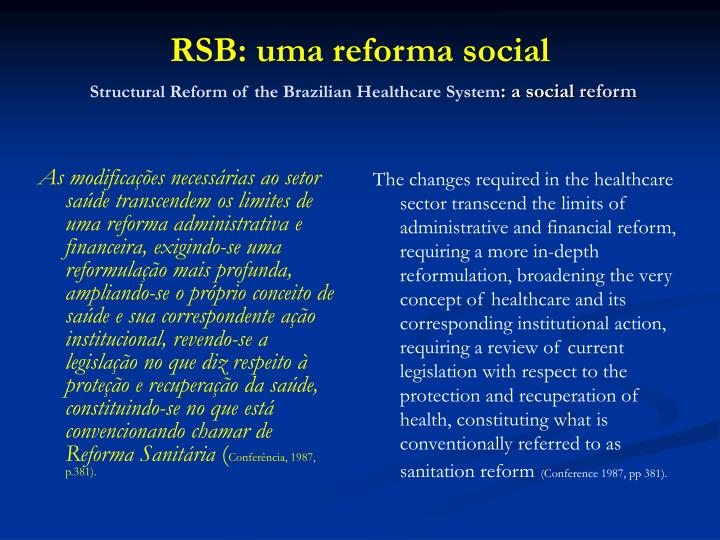 the brazilian healthcare system The brazilian private healthcare sector demands large investments, but brazilian law forbids foreign investments in brazilian hospitals as they are considered strategic by the brazilian government there is an important movement around the modification of this law as foreign investments are already permitted in the pharmaceutical, health.