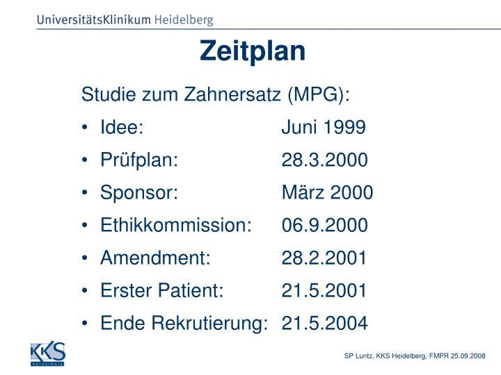 PPT - Dr. Steffen P. Luntz Koordinierungszentrum für Klinische ...