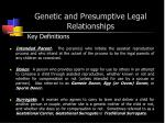 genetic and presumptive legal relationships