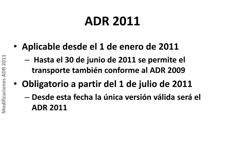 ADR 2011