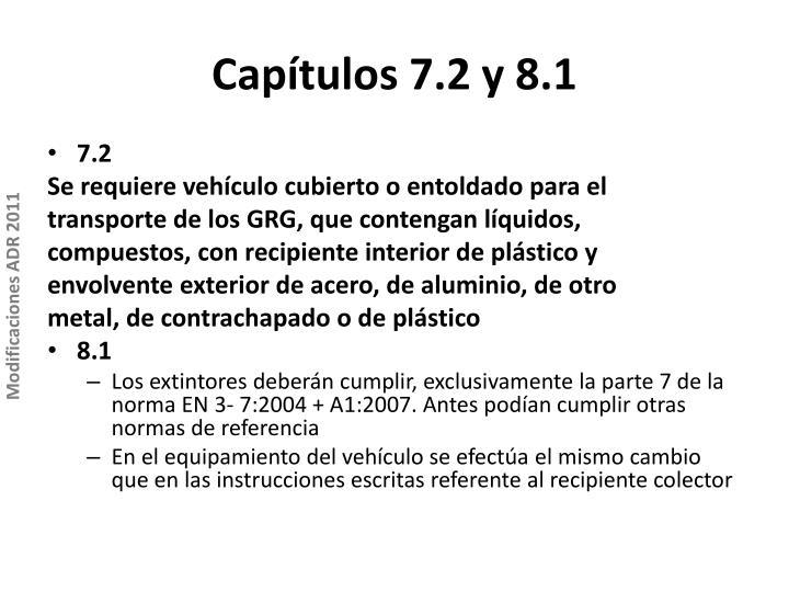 Capítulos 7.2 y 8.1