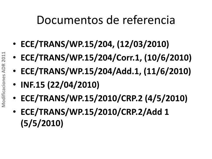 Documentos de referencia