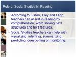 role of social studies in reading
