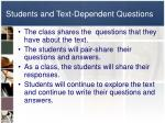 students and text dependent questions1