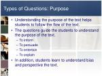 types of questions purpose