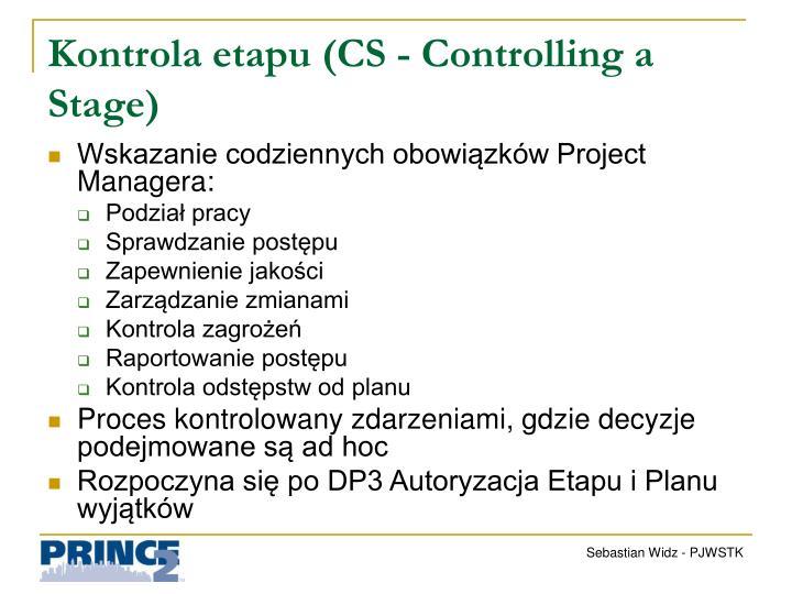 Kontrola etapu (CS -