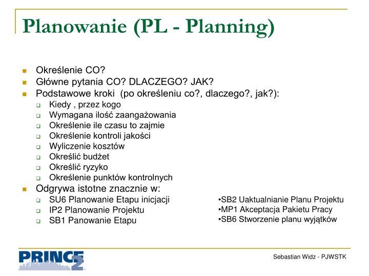 Planowanie (PL -