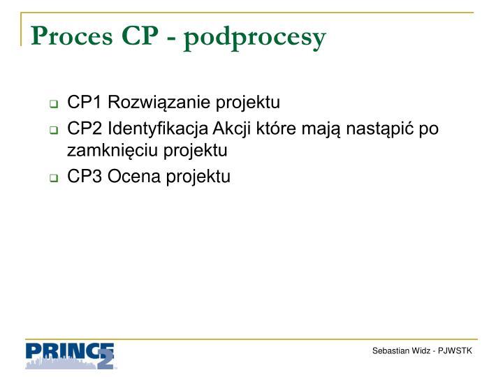Proces CP - podprocesy