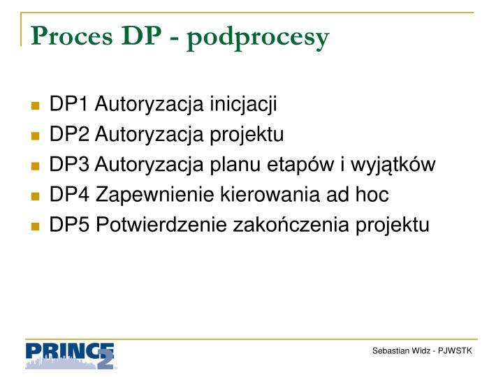 Proces DP - podprocesy
