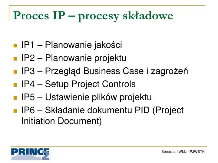 Proces IP – procesy składowe
