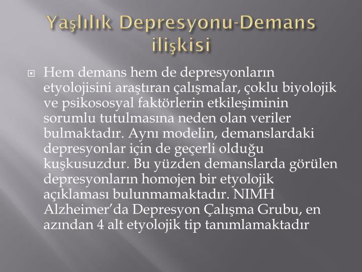 Yaşlılık Depresyonu-