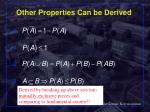 other properties can be derived