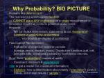 why probability big picture
