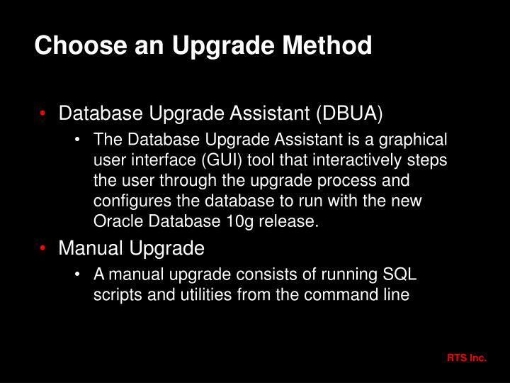 Choose an Upgrade Method