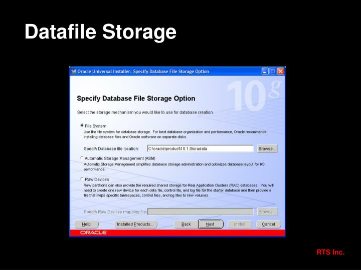 Datafile Storage
