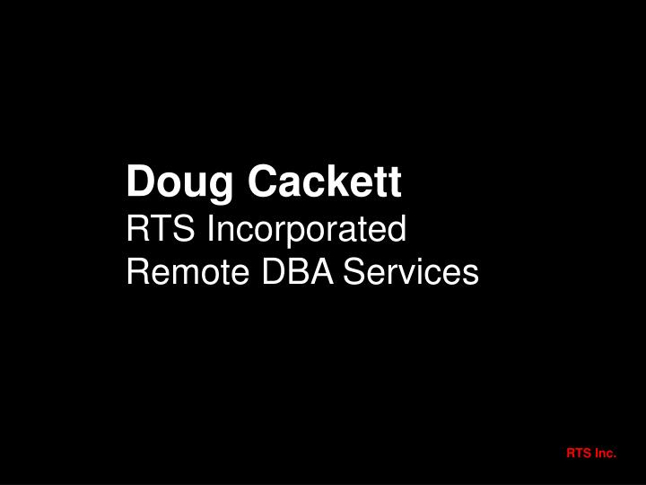 Doug Cackett