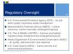 regulatory oversight1