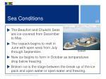 sea conditions