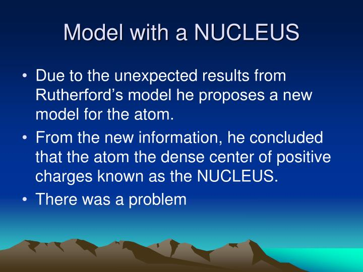 Model with a NUCLEUS