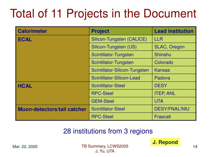 Total of 11 Projects in the Document