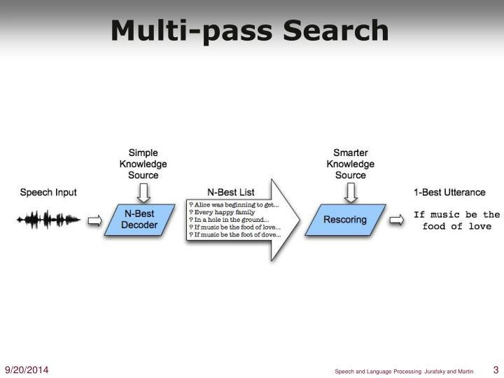 Multi pass search