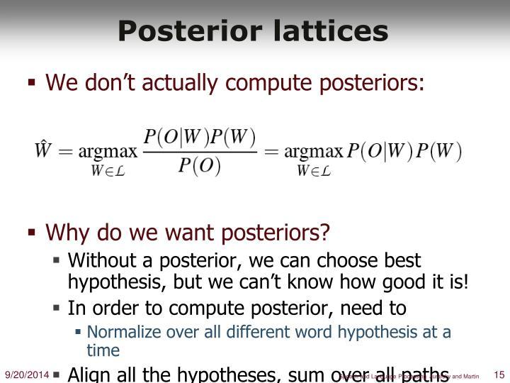 Posterior lattices