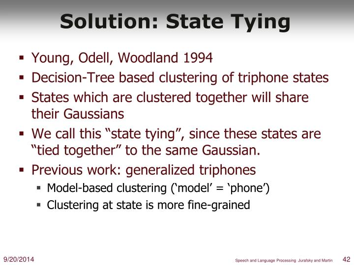 Solution: State Tying