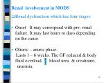 renal involvement in mods