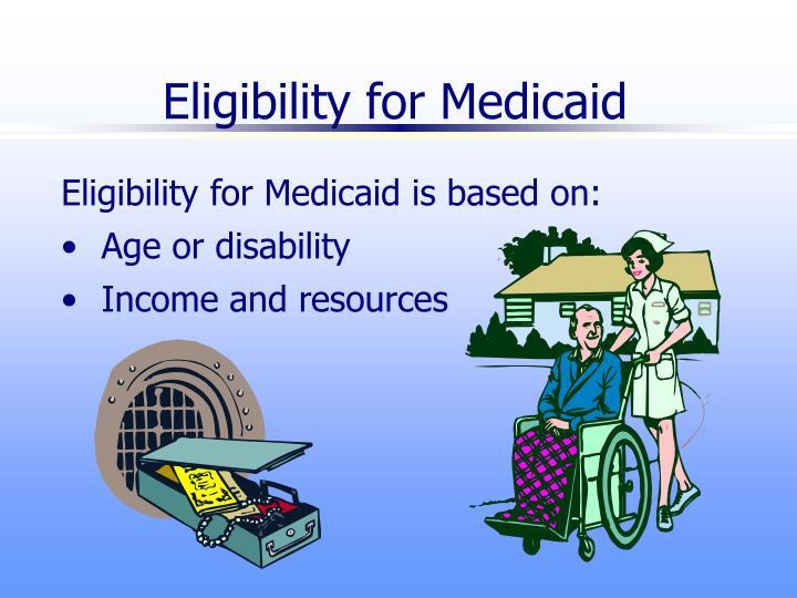 Eligibility for medicaid