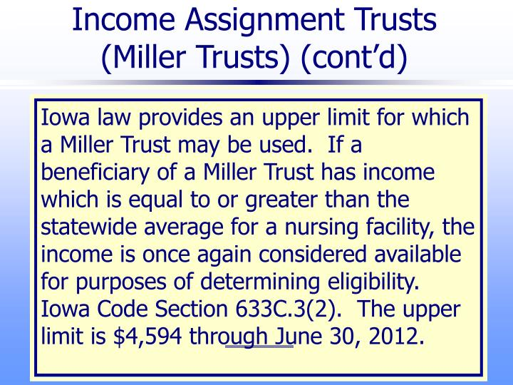 Income Assignment Trusts