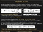 magnitudes absolues