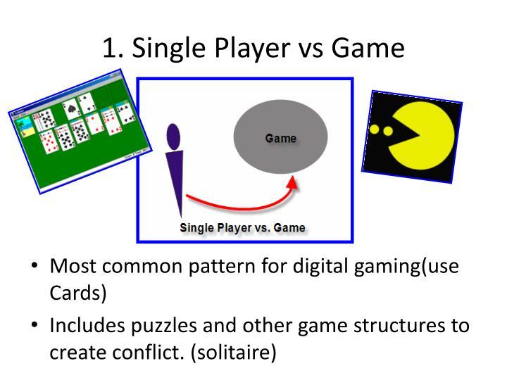 1. Single Player vs Game