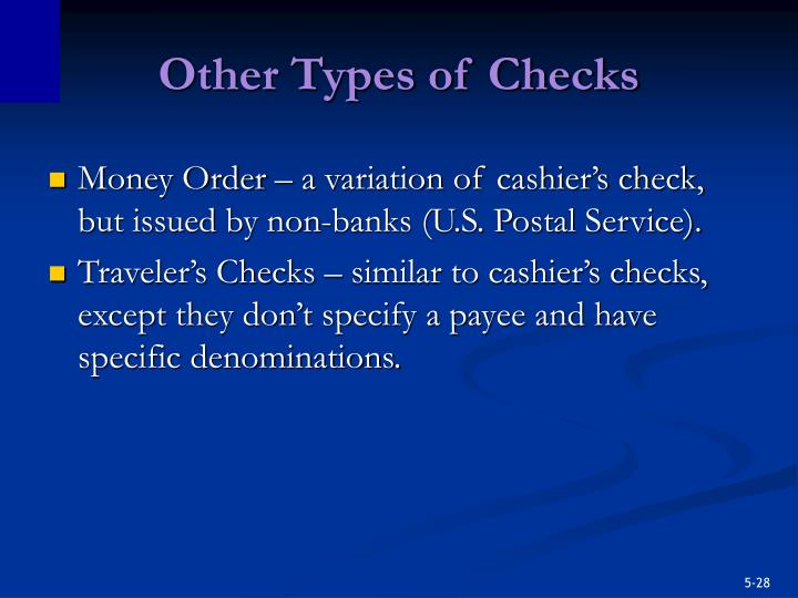 Other Types of Checks