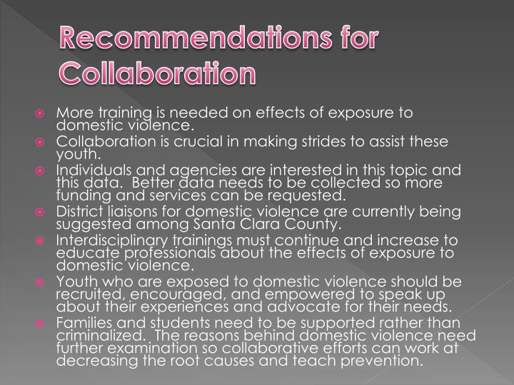 Recommendations for Collaboration