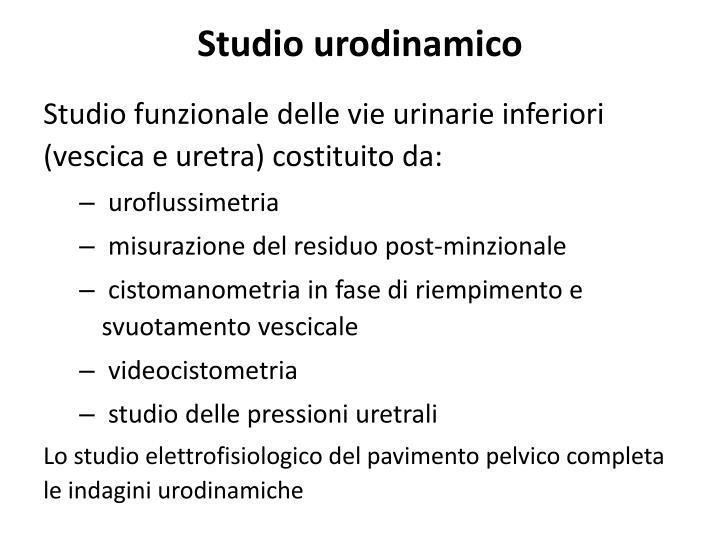 Studio urodinamico