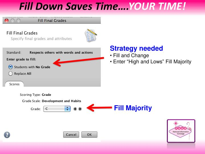 Fill Down Saves Time….